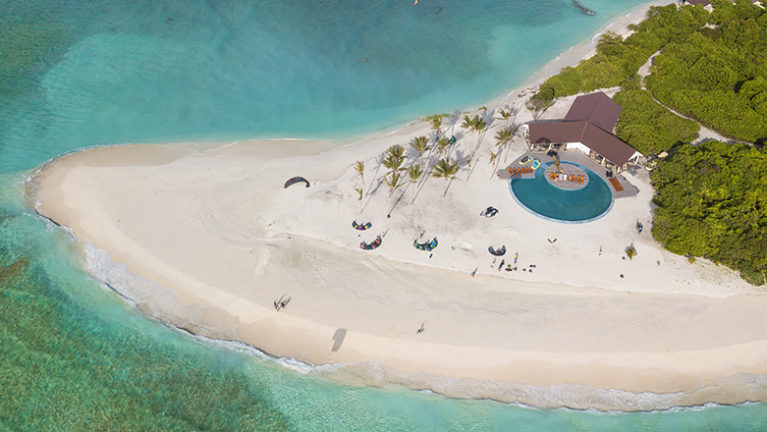 Aerial View of Hondaafushi Island Resort