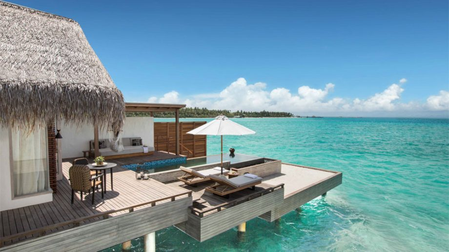 over water room sundeck in Maldives