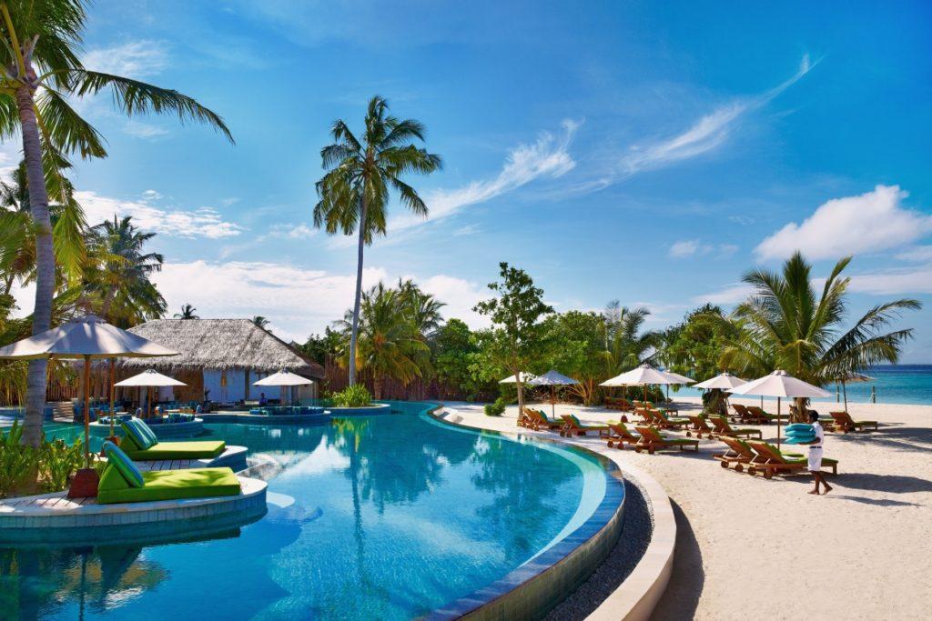 Swimming Pool at Six Senses Laamu Resort